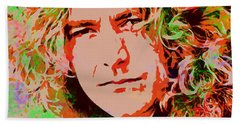 Robert Plant Hand Towel by Sergey Lukashin