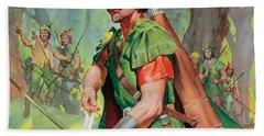 Robin Hood Hand Towel by James Edwin McConnell
