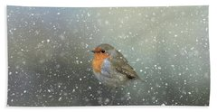 Robin In Winter Bath Towel