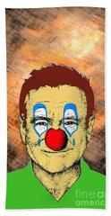 Robin Williams 1 Hand Towel by Jason Tricktop Matthews