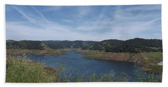 Robinson's Ferry Overlook  Hand Towel by Sara Raber