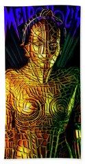 Robot Of Metropolis Hand Towel by Michael Cleere