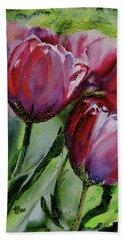 Rochelle's Springtime Tulips Bath Towel