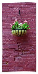 Hand Towel featuring the photograph Rochester, New York - Purple Wall by Frank Romeo