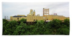 Bath Towel featuring the photograph Rochester, Ny - Factory On A Hill by Frank Romeo