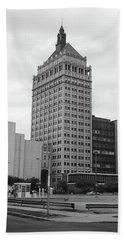 Rochester, Ny - Kodak Building 2005 Bw Hand Towel