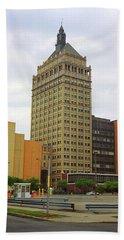 Rochester, Ny - Kodak Building 2005 Hand Towel by Frank Romeo