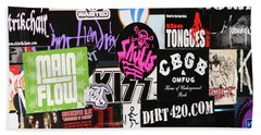 Rock And Roll Stickers Bath Towel