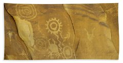 Rock Art From Utah II Hand Towel