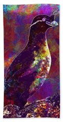 Rock Bird Auklet Crested Birds  Hand Towel