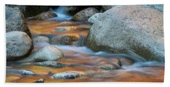 Rock Cave Reflection Nh Bath Towel by Michael Hubley