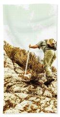 Rock Climbing Mountaineer Bath Towel