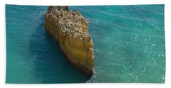 Rock Formation And The Sea In Algarve Hand Towel