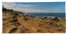 Rock Formations At Shore Acres On The Oregon Coast Hand Towel