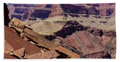 Rock Formations In The Grand Canyon Hand Towel