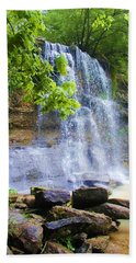 Hand Towel featuring the photograph Rock Glen by Rodney Campbell