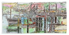 Rock Harbor, Cape Cod, Massachusetts Bath Towel