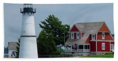 Rock Island Lighthouse July Hand Towel