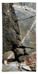 Rock Patterns-signed-#9753 Bath Towel