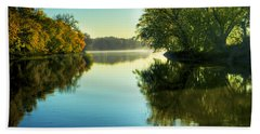 Rock River Autumn Morning Bath Towel