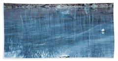 Rock Solid Frozen Bath Towel by Jason Nicholas