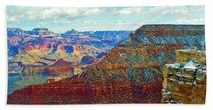 Hand Towel featuring the photograph Rock Solid by Roberta Byram