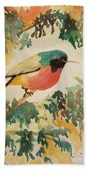 Rockefeller's Sunbird Bath Towel by Maria Urso