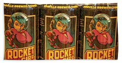 Rocket Girl Hand Towel by Dennis Baswell