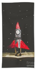 Rockets And Cartoon Puzzle Star Dust Bath Towel