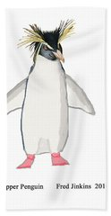 Rockhopper Penguin Hand Towel