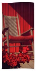 Hand Towel featuring the photograph Rockin' Red by Jessica Brawley