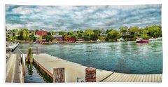 Rockport Inner Harbor Hand Towel by Daniel Hebard