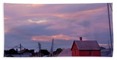 Hand Towel featuring the photograph Rockport Sunset Over Motif #1 by Jeff Folger