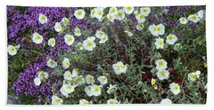 Rockrose And Thyme Hand Towel by Phil Banks
