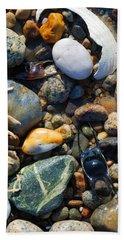 Rocks And Shells On Sandy Neck Beach Hand Towel