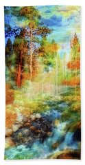 Hand Towel featuring the photograph Rocks And Water Double by Nancy Marie Ricketts
