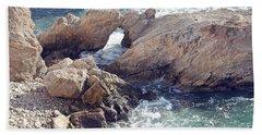 Rocks At Montana De Oro Bath Towel