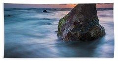Rocks At Sunset 4 Bath Towel