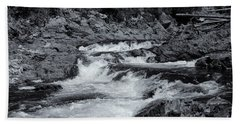 Hand Towel featuring the photograph Rocks Of Chippewa Falls by Rachel Cohen