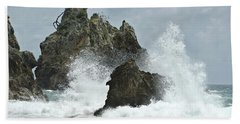Rocks Of Coromandel, New Zealand Hand Towel by Yurix Sardinelly