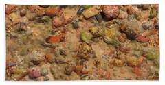Rocky Beach 5 Hand Towel by Nicola Nobile