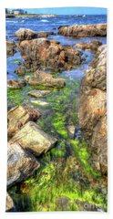 Bath Towel featuring the photograph Rocky Coast by Adrian LaRoque
