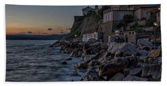 Hand Towel featuring the photograph Rocky Coast At Dawn - Piran - Slovenia by Stuart Litoff