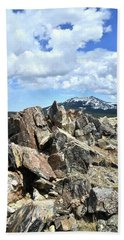 Rocky Crest At Big Horn Pass Hand Towel