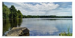 Rocky Fork Lake Hand Towel by Cricket Hackmann