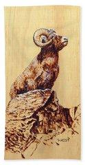 Rocky Mountain Bighorn Sheep Hand Towel