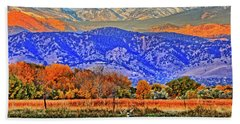 Hand Towel featuring the photograph Rocky Mountain Deer by Scott Mahon