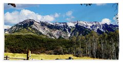 Rocky Mountain Eagle Soars Hand Towel