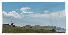 Rocky Mountain Elk Bath Towel