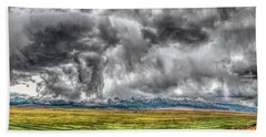 Rocky Mountain Panorama Hdr Hand Towel